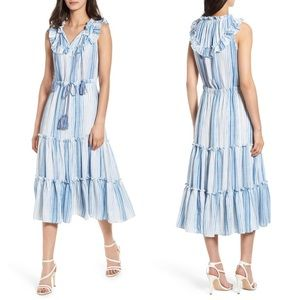 NWT Misa Los Angeles Aleja Stripe Midi Dress